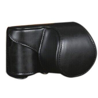 Leather Camera Bag Case Cover Pouch For Sony A5000 A5100 NEX 3N Black