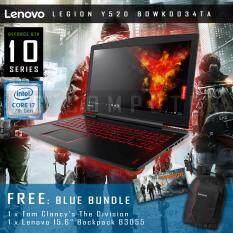"""Lenovo Legion Y520 80WK0034TA 15IKBN 15.6"""" IPS Intel Core i7-7700HQ 4-Cores KabyLake 4GB DDR4 GTX 1050 4GB GDDR5 1TB HDD Black Body แถมฟรี LENOVO Bundle"""