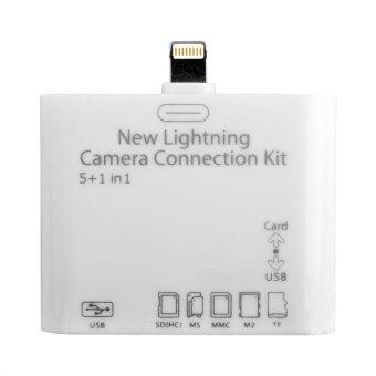 Lightning Camera Connection Kit 5 in 1 TF/SD Card Reader for iPad 4/mini/air