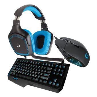 Logitech Gaming Headset รุ่น G430 + Logitech Moba Gaming Mouse รุ่น G302 + Logitech Gaming Keyboard รุ่น G310