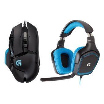 Logitech Gaming Headset G430 + Logitech Turnable Gaming Mouse G502