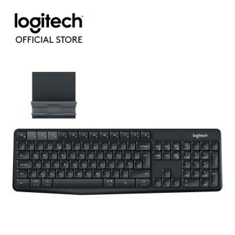 Logitech K375s Multi-Device Wireless Keyboard and Stand Combo (พร้อมแท่นวาง) Thai Keyboard(Black)