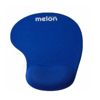 Melon แผ่นรองเม้าส์พร้อมเจลรองข้อมือ Mouse Pad with Gel Wrist Support (Blue)