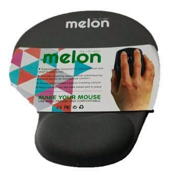 Melon แผ่นรองเม้าส์พร้อมเจลรองข้อมือ Mouse Pad with Gel Wrist Support (Gray) สีเทา