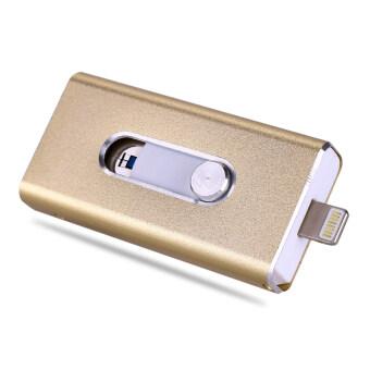 Micro Dirve Metallo Memory Stick Mobile USB 2 Per IPhone 6/6 S or Ipad Flash Drive 64 GB (Gold) - intl