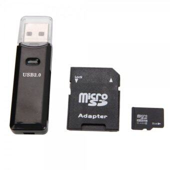 Micro SD Card 8GB + SD Card Adapter + Card Reader