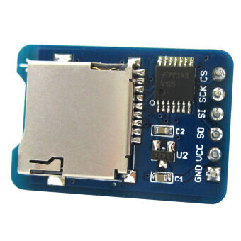 Micro SD Card Module TF Card Reader / SPI Interface 3.3V / 5V Compatible for Arduino / RPi / AVR