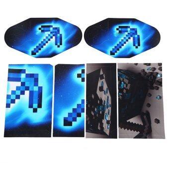 Minecraft PS4 Controller Vinyl Sticker (Blue & Black)