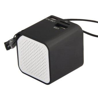 Mini Universal PC Wireless Bluetooth Speaker SCI Mic for iPhone Samsung Tablet(Black)