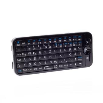 Mini Wireless Keyboard Dual Mode IR Remote Learning Feature German Language (Black) - Intl