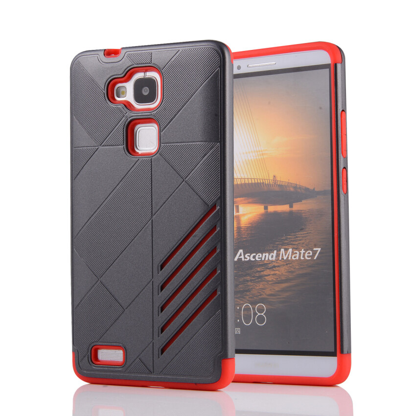 Moonmini TPU + PC Case for Huawei Ascend Mate 7 (Grey) ...