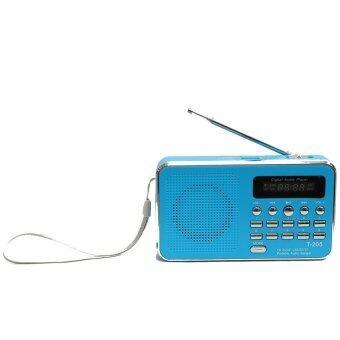 ลำโพงวิทยุ ลำโพง Mp3 รุ่นT-205 (สีฟ้า)