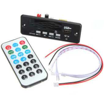 New 7~12V Car Handsfree Bluetooth MP3 Decode Board w/Bluetooth Module+FM - intl