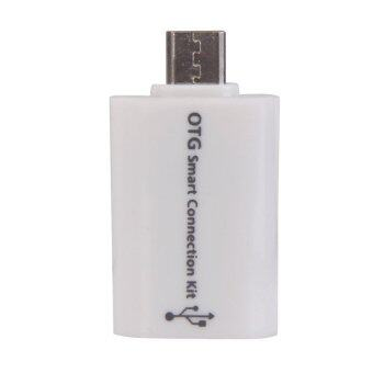 New Mini Micro USB 2.0 OTG Smart Card Reader Connection Kit for Phone White - Intl