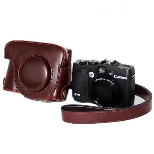 New PU Leather Camera Bag Case Cover Pouch for Canon PowerShot G15 (Intl) - intl ...