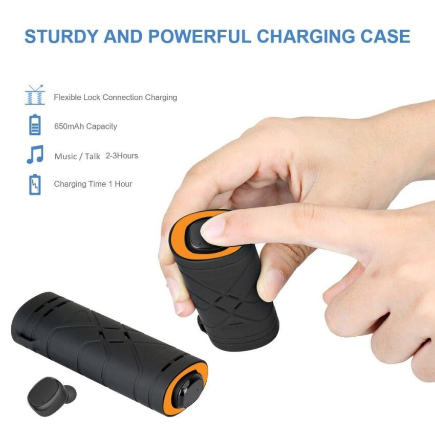 Newest Stereo True Wireless Earbuds Bluetooth V4.2 with Charging Box Handsfree Mic Sport Headset Stable/Fashion/Portable Headphone - intl image