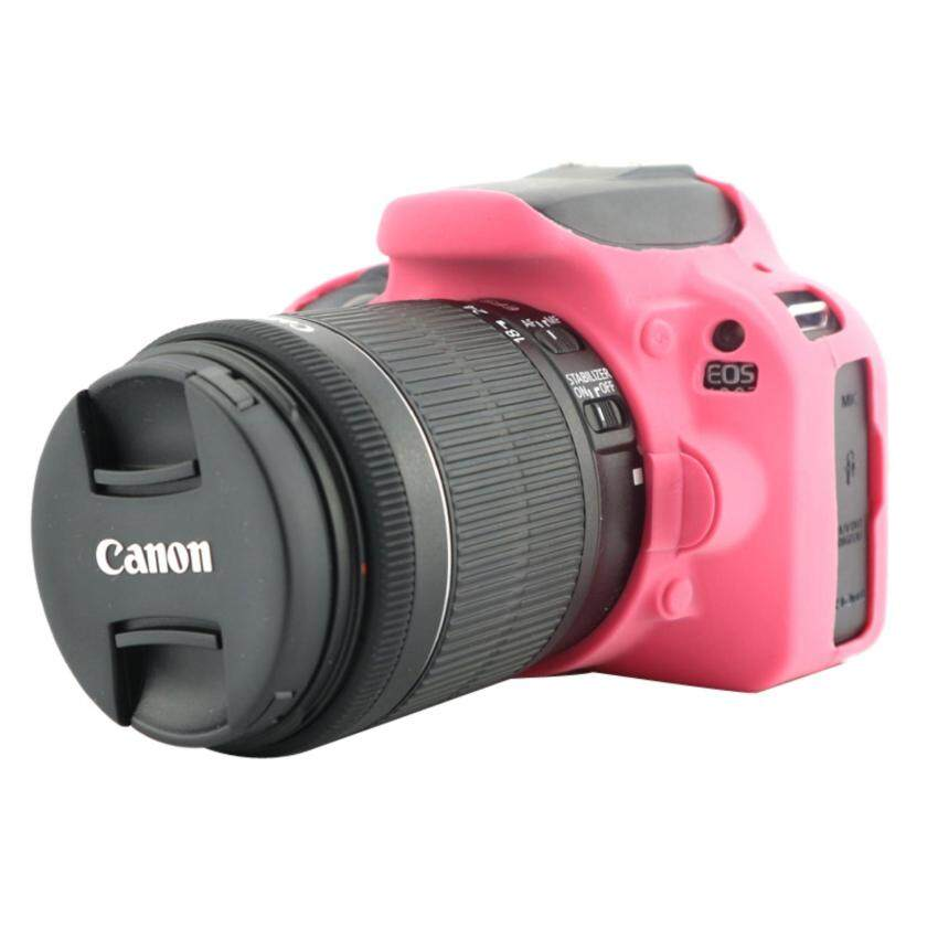 Nice Soft Silicone Rubber Camera Protective Body Cover Case Skin For Canon EOS100D Camera Bag (Rose) - intl ...