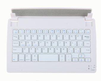 niceEshop Bluetooth3.0 แป้นพิมพ์ไร้สายอเนกประสงค์สำหรับ 8นิ้วแท็บเล็ต (สีชมพู/ขาว)