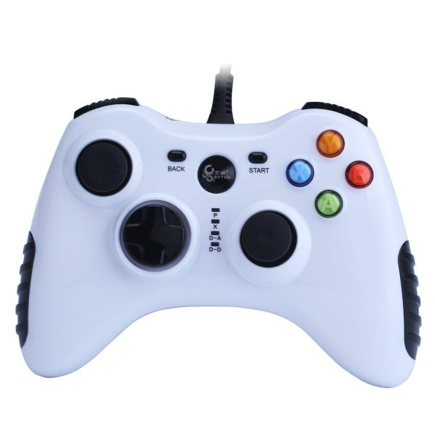 niceEshop Wired Game Controller for PC(Windows XP/7/8/10) & Android Devices (White) ...