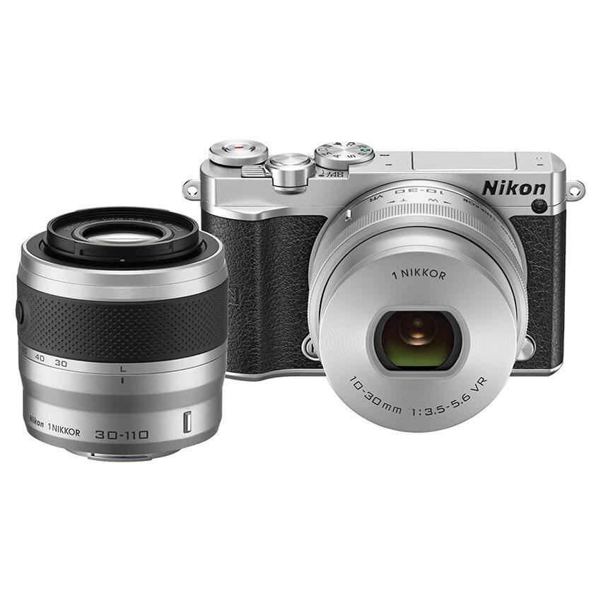 ด่วนNikon กล้องดิจิทัล รุ่น Nikon 1 J5 Mirrorless พร้อมเลนส์ 10-30mm +30-110mm (สีเงิน) กำลังลดราคา