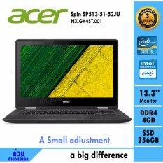 Notebook Acer Spin SP513-51-52JU (Black)