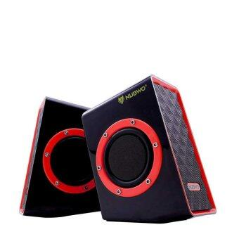 NUBWO Acoustica Extra Bass ลำโพง USB รุ่น NS-001 - สีแดง