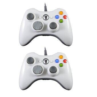 NUBWO แพ็คคู่ จอยเกมส์ xbox 360 รุ่น nj-29 (สีขาว + สีขาว)
