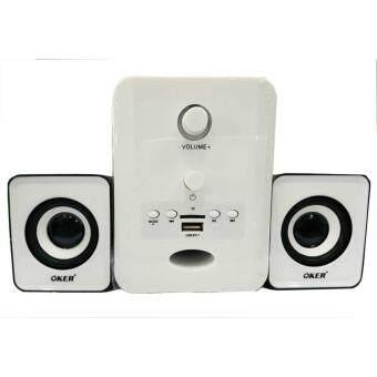 OKER ลำโพงบลูทูธ Bluetooth Multimedia Desktop Speaker Micro 2.1 650W SP-525