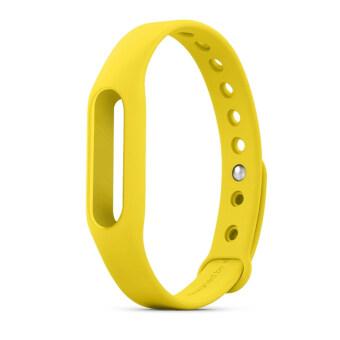 Original Xiaomi Colorful Waterproof Replacement Band for XiaoMi Wireless Wristband Bracelet Yellow (Intl)