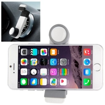Portable Air Vent Car Mount Holder for iPhone 6 & 6 Plus / iPhone 5 & 5S (White + Grey)(White)