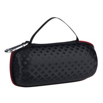 Portable Hard Case Cover PU Bag Pouch for JBL Charge 2 Bluetooth Speaker (Black)