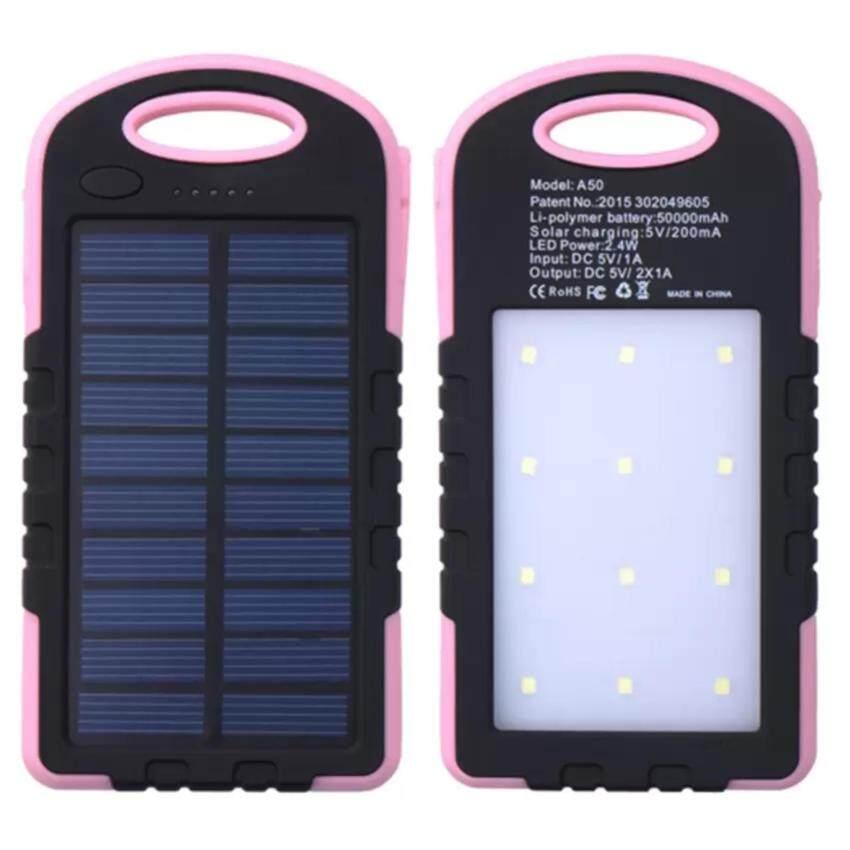 แบตสำรอง Power Bank พลังงานแสงอาทิตย์ 3 ระบบ กันน้ำได้ Solar Charger with LED Light ขนาด ...