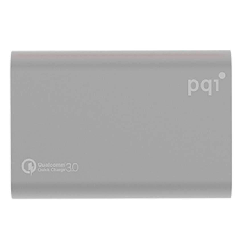 PQI Power Bank 10000mAh Type C QC3.0(Grey 5001-10000mAh)