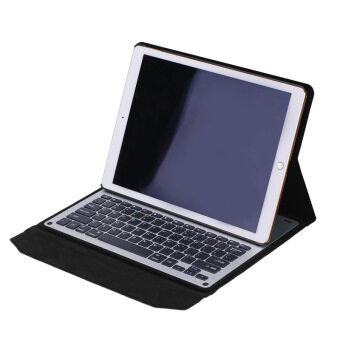 Pro Tablet Ultra-Thin High Quality Bluetooth Keyboard Stand Cover for Apple iPad Pro (White) - Intl