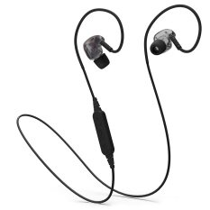 Professional Fashion PLEXTONE BX240 Wireless Bluetooth Headset Sport Running Stereo Headset Waterproof Headset Microphone - Black - intl image