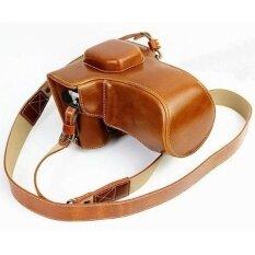 Protective Compact Leather Case With Shoulder Strap For Olympusom-De-M5 Em5ii Em-5 Mark Ii Digital Camera With 16-50mm Osslens( - Intl ราคา 1,226 บาท(-33%)
