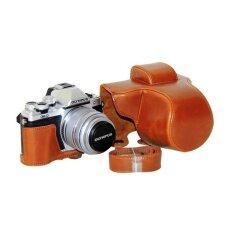 Pu Leather Camera Case Bag Cover With Tripoddesignfreeshoulderstrap For Olympus E-M10 Markii Coffee (cameranotincluded) - Intl ราคา 848 บาท(-29%)