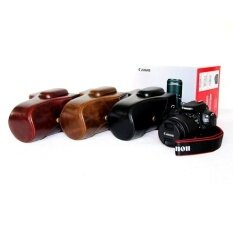 Pu Leather Camera Case Bag For Cannon Eos 100d (18-55mm) Brown - Intl ราคา 1,482 บาท(-29%)