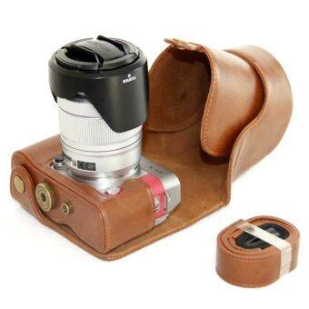 PU Leather Camera Case for Fujifilm X-A3 XA3 16-50/18-55mm Lens (Brown) - intl