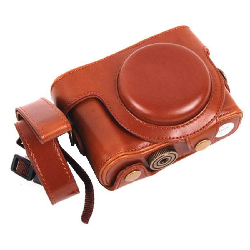 PU Leather Camera Case for Sony DSC-HX60 HX50V HX30 (Brown) - intl