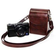 Pu Leather Generic Universal Camera Case Bag Cover Forsonyrx100rx100iii Rx100iv Rx100v Hx50v Hx60v Hx30v Hx90(coffee) - Intl ราคา 444 บาท(-30%)