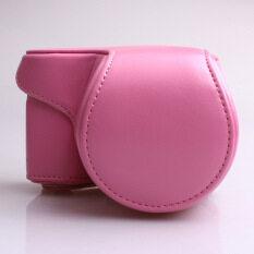 กระเป๋าหนัง Pu ฝากระเป๋ากล้องกับรัดสำหรับ Sony A5000 Nex 3n/-/a5100 (สีชมพู) ราคา 545 บาท(-49%)