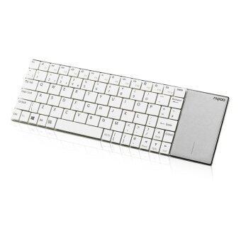 Rapoo E2710 Wireless Multi-media Touchpad Keyboard (White)