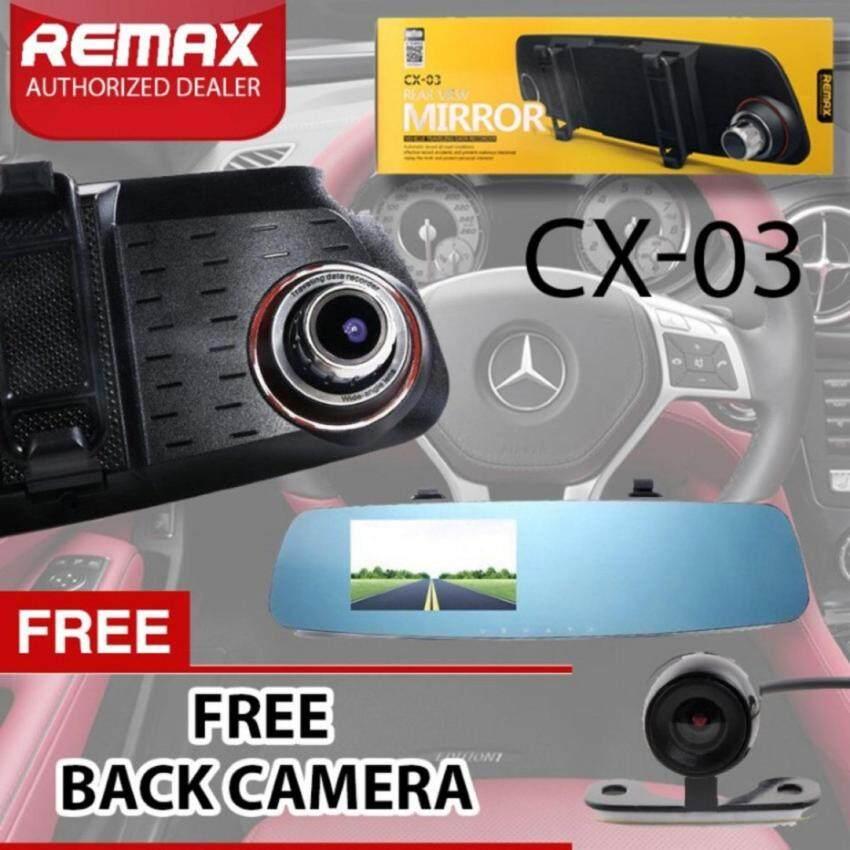 REMAX Car DVR CX - 03 ถ่ายหน้า-หลัง ความละเอียด Full HD 1080Pมูลค่าของแถม499บาท* ...