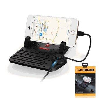 Remax Car Holder Charger Super Flexible แท่นวางโทรศัพท์ในรถยนต์พร้อมที่ชาร์จในตัว (สีดำ)