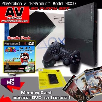 ReProduct Sony Playstation 2 Slim 90006 Funny Set (MARIO PLUS) (รับประกัน 1 ปี)