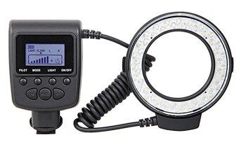 RF550D Macro 48pcs LED Ring Flash Light For Nikon Canon Pentax Olympus Panasonic (Black)