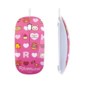 Rilakkuma DV-LD308 Optical Mouse Pink
