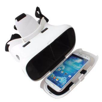 RITECH II Head Mount Plastic Version Google Cardboard Magnet VR IMAX 3D Glasses for 3.5 - 6 Inch Smartphone - intl
