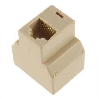 RJ45 CAT5 Ethernet Cable LAN Port 1 to 2 Socket Splitter Connector Adapter